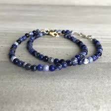 blue bead bracelet images Sodalite bracelet small bead bracelet for women men blue jpeg