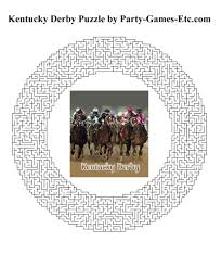 kentucky derby party games free printable games and activities