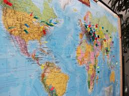 World Map With Pins by The Semi Radical Arm Chair Thinker Foodie Activist And