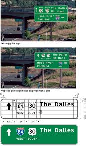 proportion based format system for freeway and expressway guide