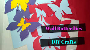 diy crafts paper butterfly wall decor for home and living room