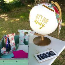 urne de mariage diy recycler un globe terrestre en urne de mariage création