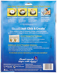amazon com avery cd labels inkjet glossy 20 pack white 8942