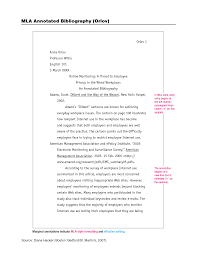Essay Reference Example Annotated Bibliography Example For Internet Source