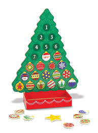 melissa u0026 doug countdown to christmas wooden advent calendar