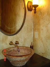 powder room with textured u0026 faux painted walls custom iron sink
