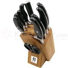 ken kitchen knives shun ken deluxe 11 kitchen knife bamboo block set