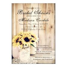 rustic bridal shower invitations rustic sunflowers jar bridal shower invites zazzle