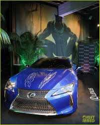 lexus black chadwick boseman reunites with black panther u0027s lexus at comic con