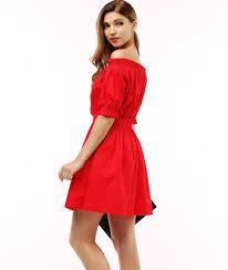 cotton new 2017 autumn summer women dress short sleeve off the