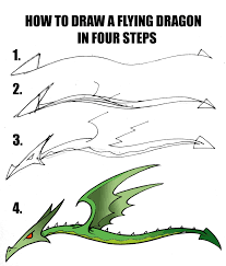 how to draw a dragon in four steps daryl hobson artwork