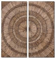 Uttermost Decor Uttermost 07636 Lanciano Wood Wall Art Set Of 2 Rustic Wall