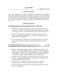 Leasing Agent Duties Resume Property Manager Resume Example Resume Example And Free Resume Maker