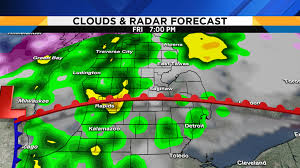 Local Weather Map Metro Detroit Weather Forecast Updating Friday U0027s Severe