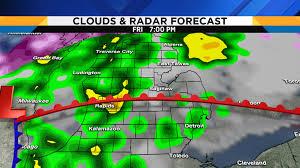 Radar Weather Map Metro Detroit Weather Forecast Updating Friday U0027s Severe