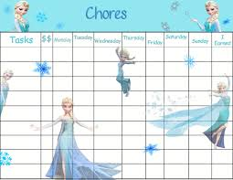 printable instant download elsa chore chart jpeg file