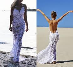 aliexpress com buy halter see through beach wedding dress