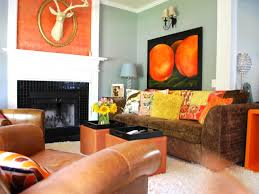 shades of orange best paint colors inside and brown living room
