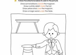 drawing prepositions worksheet education com