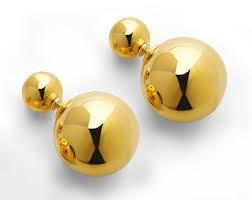 sided stud earrings sided pearl stud earrings