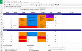 Google Spreadsheets App Setting Up A Quick And Easy Publishing Calendar For Your Blog