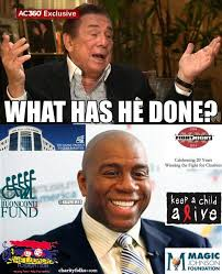 Magic Johnson Meme - donald sterling blasts magic johnson during cnn interview celeb