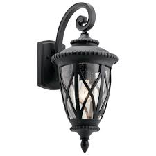 kichler outdoor wall lighting admirals cove outdoor wall 1lt 49848bkt u2013 kichler canada a