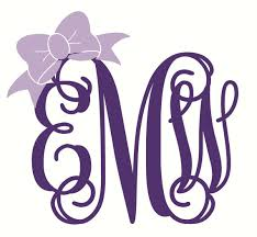 bow monogram monogram car decal with bow monogram car monogram decal bow