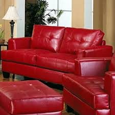 Bonded Leather Loveseat Coaster Samuel Modern Tufted Leather Loveseat In Red 501832