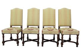 Dining Chair Set Of 4 Vintage French Country Camelback Dining Chairs Set Of 4 Omero Home