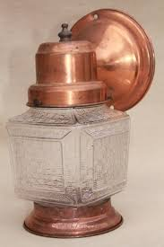 Lantern Wall Sconce Mid Century Vintage Copper Lantern Wall Sconce Light Exterior