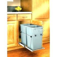 trash can attached to cabinet door pull out garbage can wood classics pull out waste container ikea