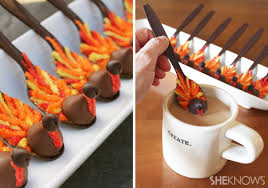 beautiful chocolate coffee spoons for thanksgiving edible crafts