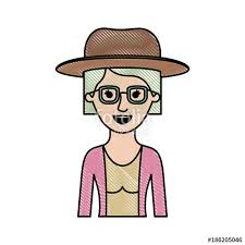 hats for women with short hair over 50 woman half body with hat and glasses and blouse with jacket and