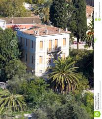 neoclassical house under acropolis plaka athens stock image
