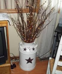 Lighted Twigs Home Decorating Made From Old Milk Can And Electric Lights Connie U0027s Crafts