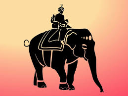 Elephant Decorations Maharaja Elephant Decorations Vector Silhouette Vector Free Download