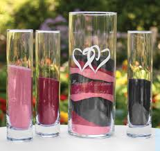 Sand Vases For Wedding Ceremony Linked Hearts Unity Sand Ceremony Set Unity Ceremony Sand Vases