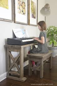 Diy Sit Stand Desk by Diy Digital Piano Stand Plus Bench A 25 Project Make It