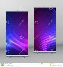 free printable vertical banner template roll up mockup vertical banner background blue purple neon effec