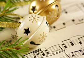 happy merry christmas music bells winter holiday notes