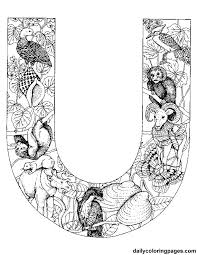 u animal alphabet letters to print png 612 792 alfabet