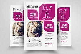 invitation flyer templates free wedding invitation flyer template flyer templates creative market