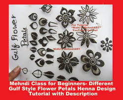 style flower mehndi class for beginners different gulf style flower petals