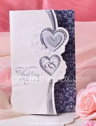 Wedding Invitation Cards In Nigeria Double Heart Design Wedding Invitation Set Of 50 724323 2017