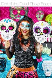 day of the dead photo booth soiree event design