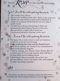 words for wedding cards 9 hilarious wedding invitations that simply can t be ignored