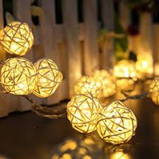 battery powered christmas lights amazon amazon com battery powered warm white 20 led 2 5m rattan ball