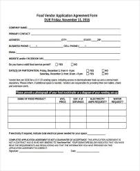 8 vendor agreement form samples free sample example format