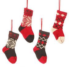 knit ornament set of 4 decoration